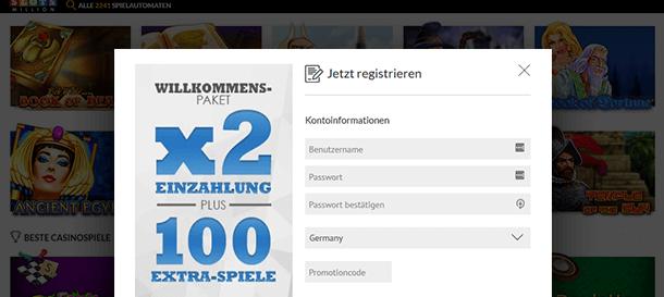 Slotsmillion Casino Registrierung