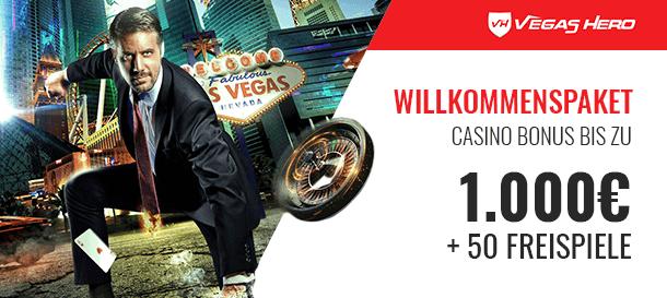 Vegas Hero Casino Willkommenspaket