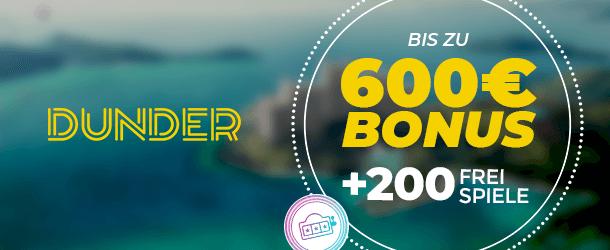 Dunder Casino App Bonus