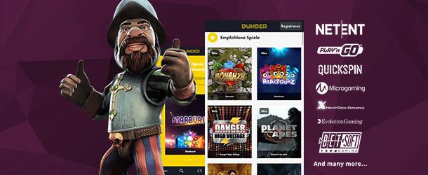 Dunder Casino App Spiele
