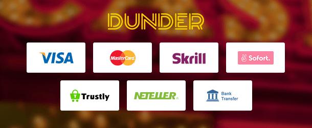 Dunder Casino App Zahlungen