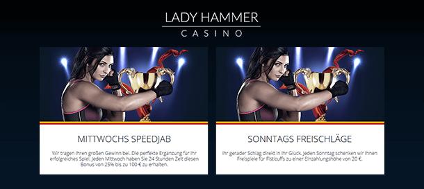 Lady Hammer CasinoBonus Angebote