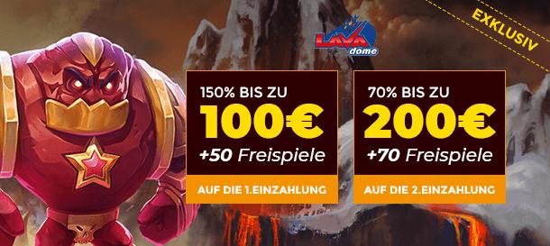 Lavadome Casino Exclusive Bonus
