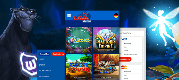 Lavadome Casino Mobile Casino App