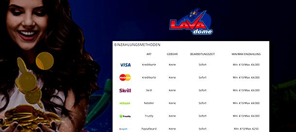 Lavadome Casino Zahlungen