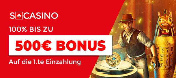 SCasino Casino Bonus 2