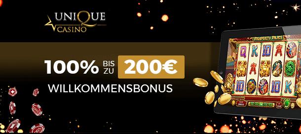 Unique Casino Bonus 3