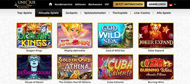 Unique Casino Spiele