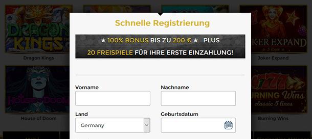 Unique Casino Registrierung