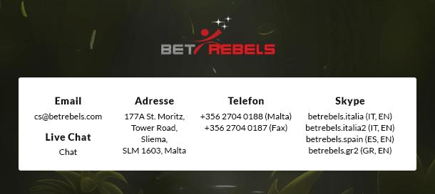 BetRebels Casino Service