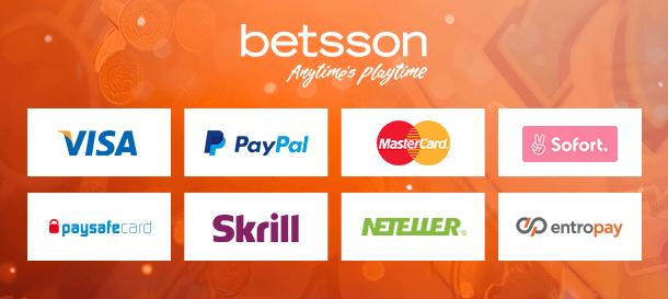 Betsson Casino Zahlungen