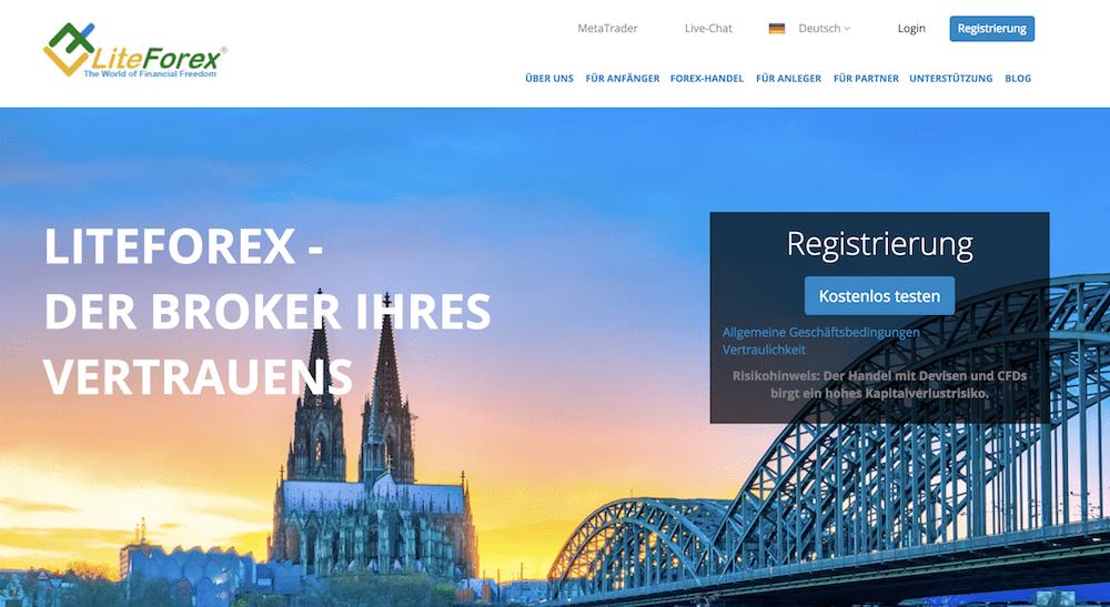 LiteForex Webseite
