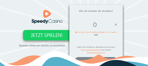 Speedy Casino Registrierung