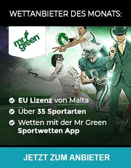 Mr Green Sportwetten-Anbieter des Monats Betrug.org