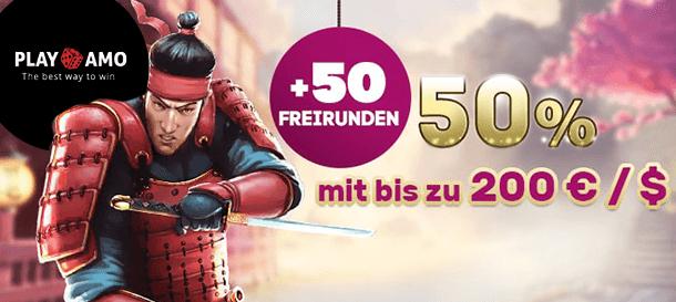 PlayAmo Casino Neukundenbonus