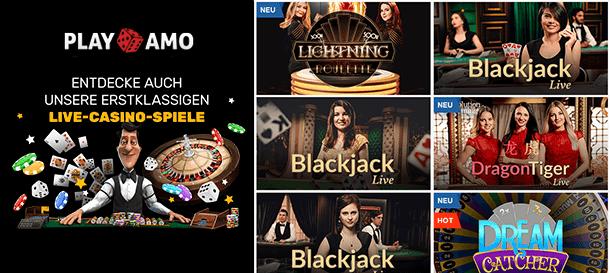 PlayAmp Casino Live Casino