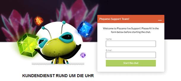 PlayAmo Casino Kundenservice