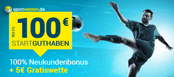 Sportwetten.de Bonus bis zu 100 Euro