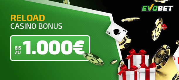 Evobet Casino Bonus für Neukunden
