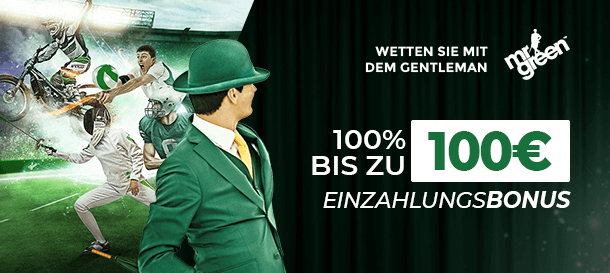 Mr Green Sportwetten Bonus