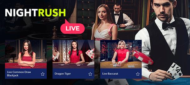 NightRush Casino Live Casino & Live Dealer