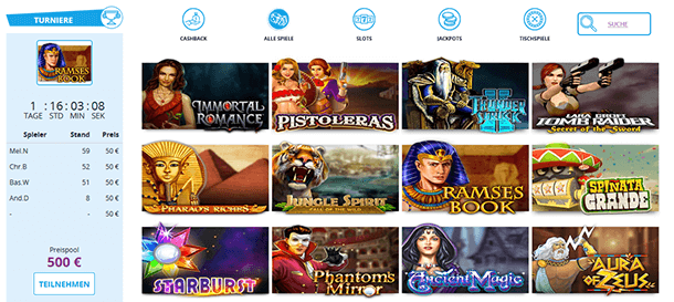 CasinoSecret Spieleauswahl