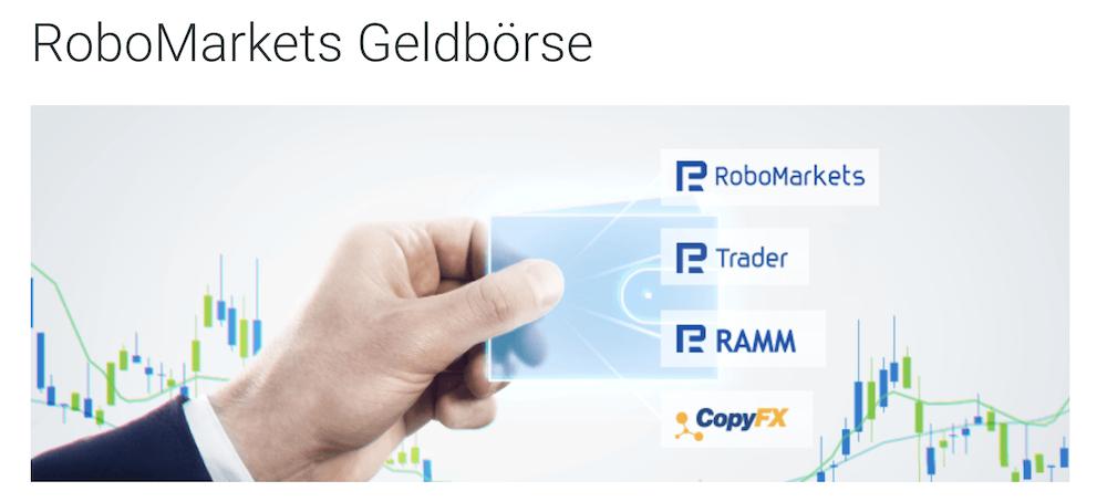 RoboMarkets Geldbörse