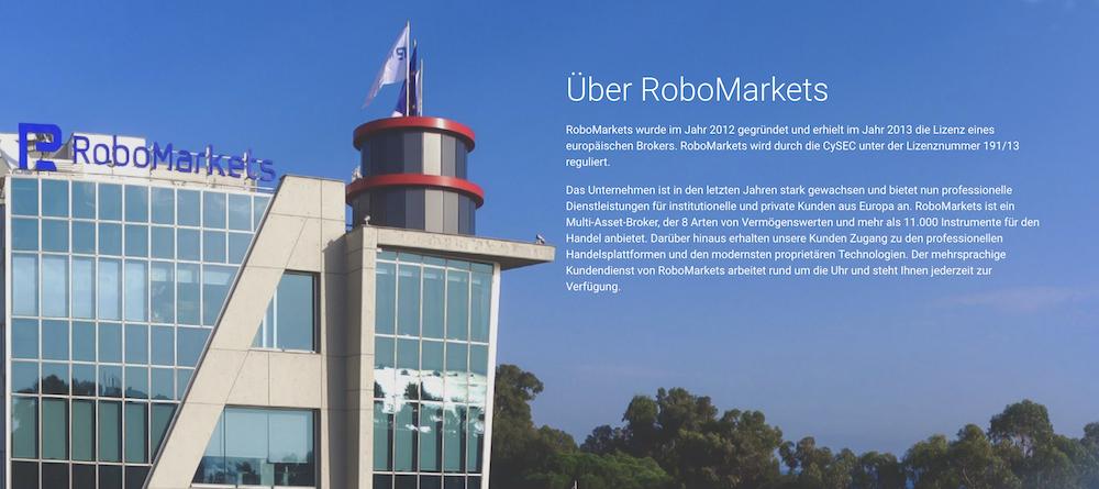 RoboMarkets Über Uns