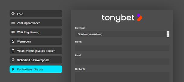 Tonybet Casino Kundenservice