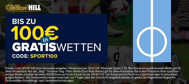 William Hill Neukundenbonus für Sportwetten