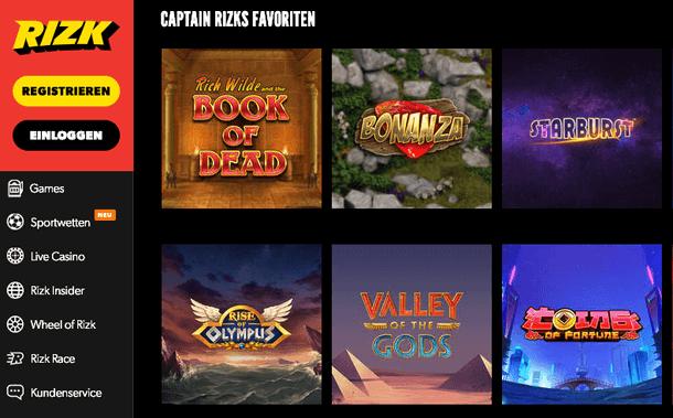 Rizk Casino Spielautomaten 2019