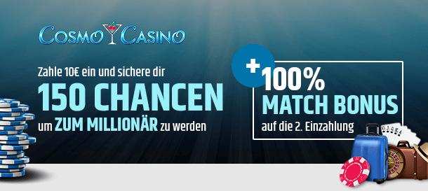 Cosmo Casino Bonus für Neukunden