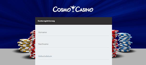 Cosmo Casino Registrierung