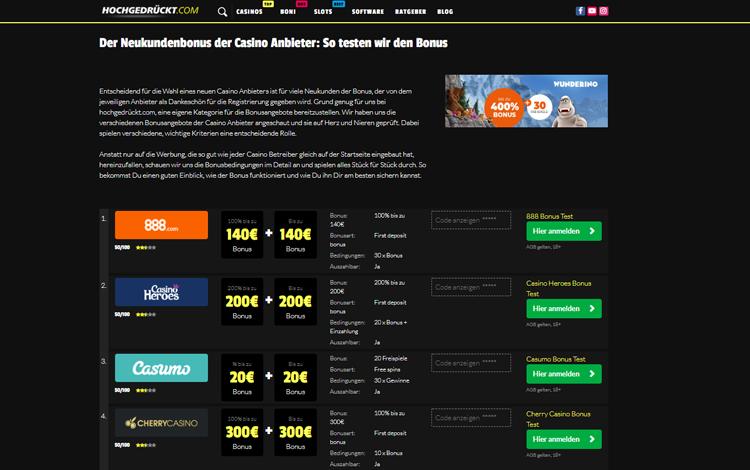 hochgedrükt.com bestes online Casino