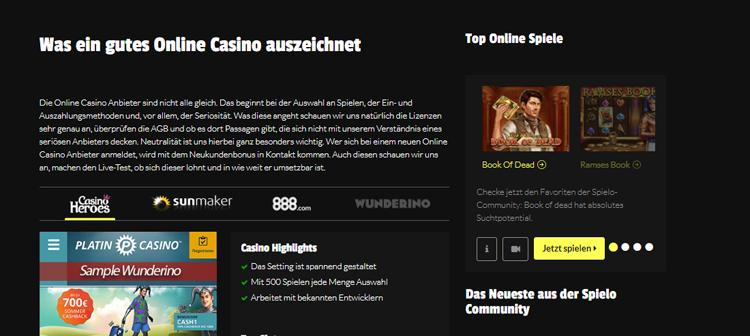hochgedrückt.com – was zeichnet ein gutes Casino aus