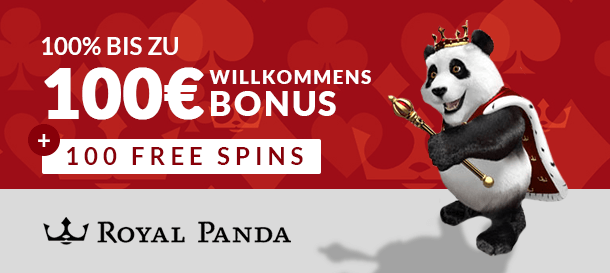 Royal Panda Casino Neukundenbonus
