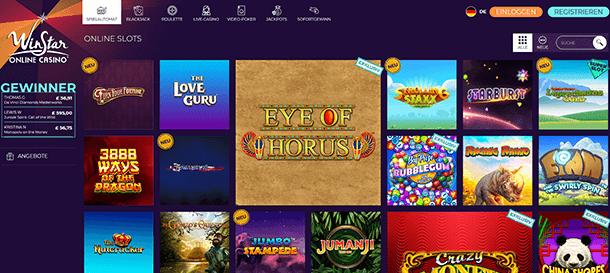 WinStar Casino Spiele
