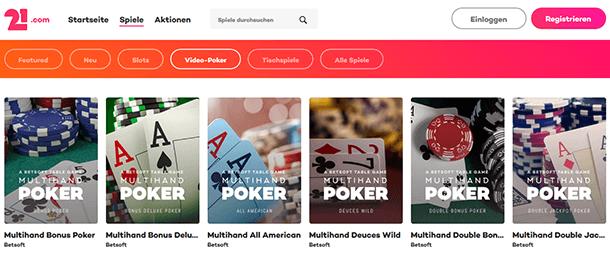 21.com Casino Live-Casino