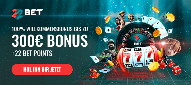 22BET Casino Neukundenbonus