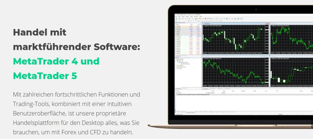 Bei EightCap traden Sie mit marktführender Software