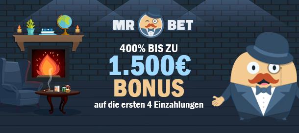 Mr Bet Casino Bonus für Neukunden