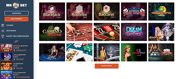Mr Bet Casino Live Casino