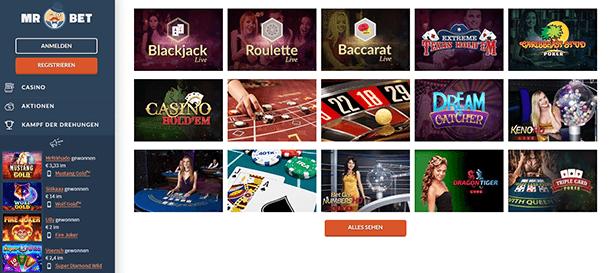 Mr Bet Casino Live Casino