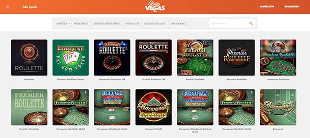 Slotty Vegas Casino - Das Live Casino
