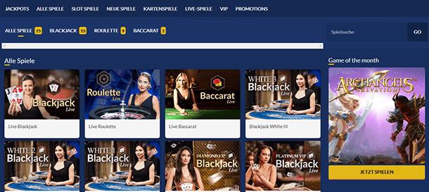 Slotzo Casino Livecasino