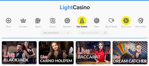 LightCasino Live Casino