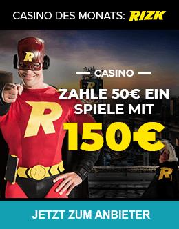 Casino des Monats: Rizlk Casino Bonus