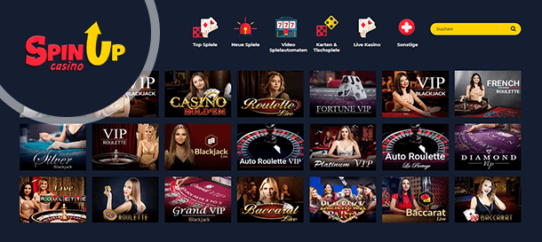 SpinUP Casino Livecasino