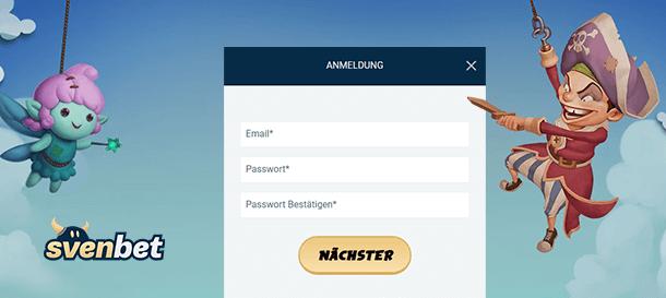 SvenBet Casino Registrierung