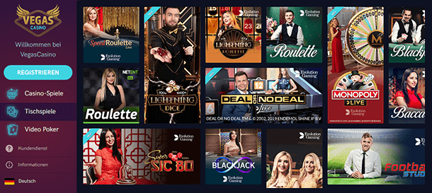 Vegas Casino Livecasino